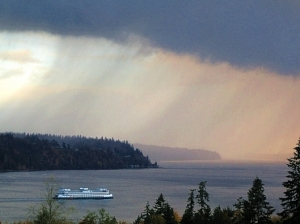 Curtain of rain - Kitsap WA