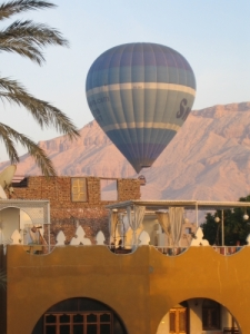 View from my hotel window- Thebes