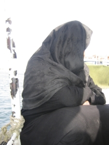 Egyptian woman on boat